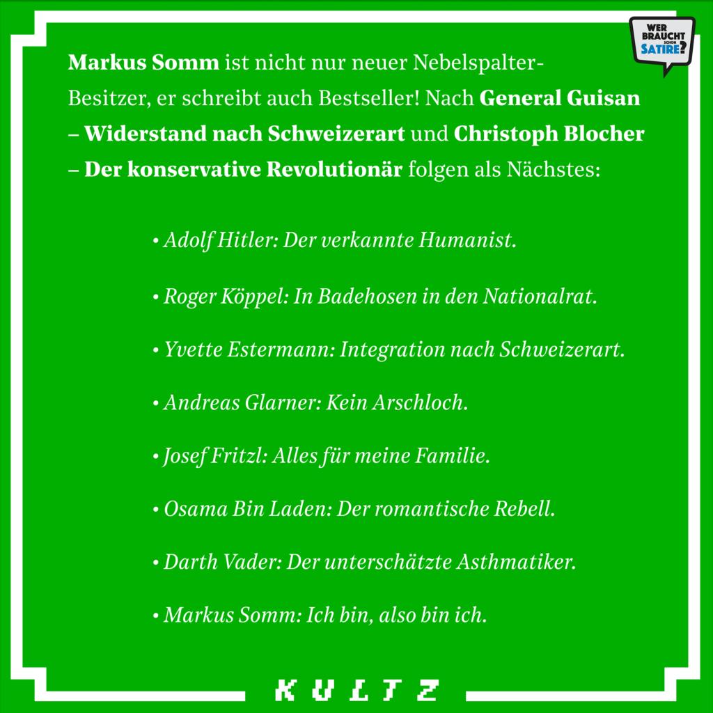 Satire von Kultz.ch – Wer braucht schon Satire? Aktion zur Stärkung der Schweizer Satire. Satire frei von Zensur, Investoren und Medienkonzernen – von den Künstler*innen direkt zu dir.