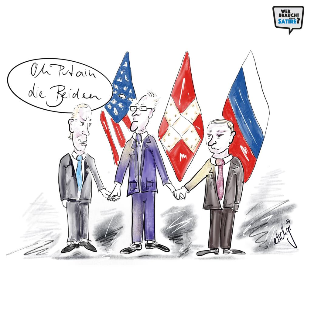 Cartoon von Etschgi – Wer braucht schon Satire? Aktion zur Stärkung der Schweizer Satire. Satire frei von Zensur, Investoren und Medienkonzernen – von den Künstler*innen direkt zu dir.