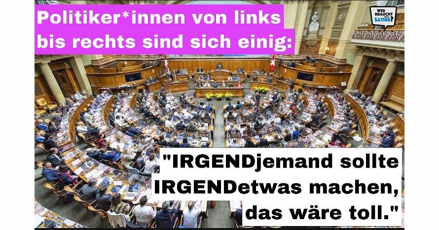 Meme von Mondhausi – Wer braucht schon Satire? Aktion zur Stärkung der Schweizer Satire. Satire frei von Zensur, Investoren und Medienkonzernen – von den Künstler*innen direkt zu dir.