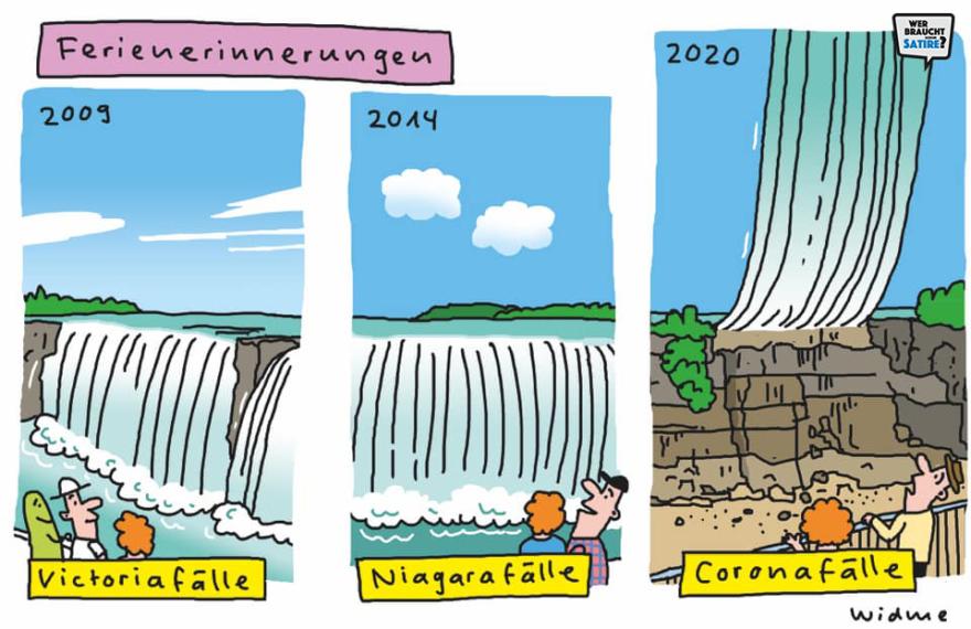 Cartoon von Ruedi Widmer – Wer braucht schon Satire? Aktion zur Stärkung der Schweizer Satire. Satire frei von Zensur, Investoren und Medienkonzernen – von den Künstler*innen direkt zu dir.