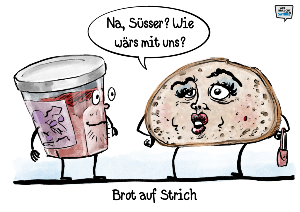 Cartoon von Michael Mittag – Wer braucht schon Satire? Aktion zur Stärkung der Schweizer Satire. Satire frei von Zensur, Investoren und Medienkonzernen – von den Künstler*innen direkt zu dir.